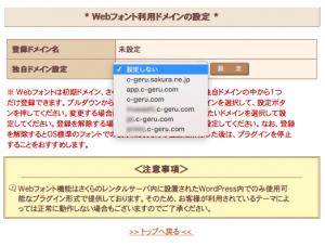 独自ドメインとそのサブドメインは別ドメイン扱いとなるため、両方同時にはWebフォントを適用できない。